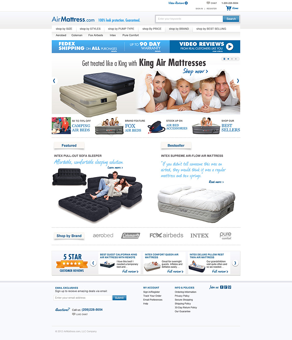 Air Mattress, UI/UX Design